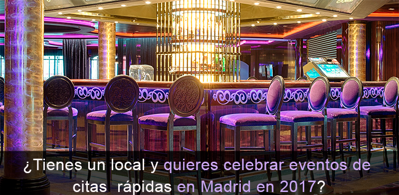 Celebra citas rápidas en tu local de Madrid