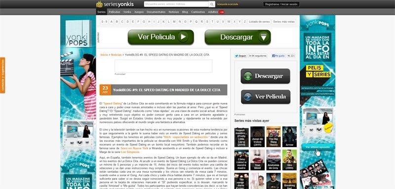 Seriesyonkis.com habla de La Dolce Cita
